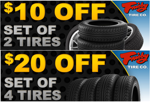 tire coupons for Frisby Tire